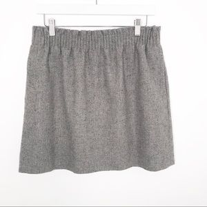 J. Crew Outlet | Gray Flecked Wool Skirt
